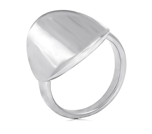 Kelly Hoppen Wide Curved Disc Ring Bronze