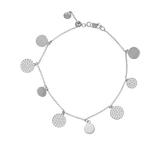 Escape by Melissa Odabash Pave Station Bracelet Sterling Silver
