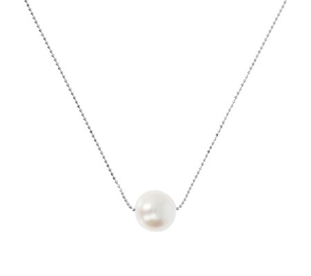Bronzo Italia Diamond Cut 45cm Necklace with Ming Cultured Pearl