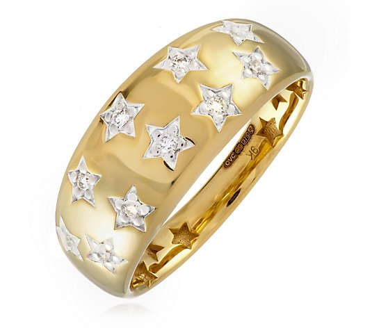 0.15ct Diamond Estate Collection Star Band Ring 9ct Gold