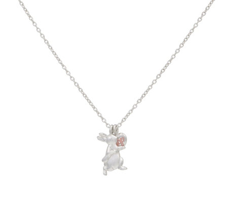Beatrix Potter Peter Rabbit Children's 33cm Necklace Sterling Silver