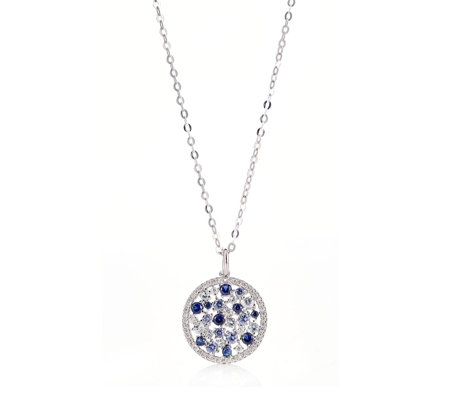 Diamonique 1.1ct tw Simulated Gemstone Pendant & Chain Sterling Silver