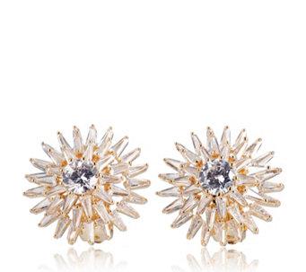 Frank Usher Crystal Starburst Earrings 340227