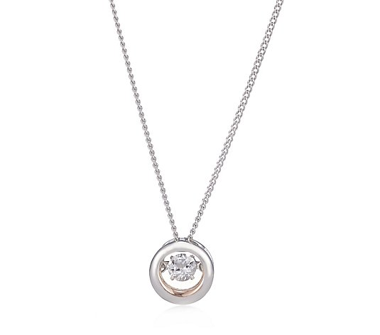 Clogau National Treasures Swarovski Topaz 55.8cm Necklace Sterling Silver