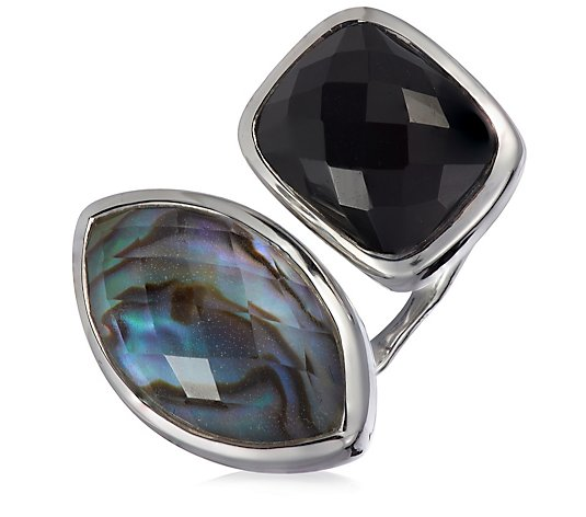 Hilary Joy Couture Double Gemstone Ring Sterling Silver