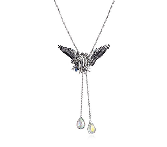 Butler & Wilson Unicorn with Wings Lariat Necklace