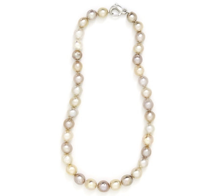 Honora 12-14mm Cultured Ming Pearl 50cm Necklace Sterling Silver