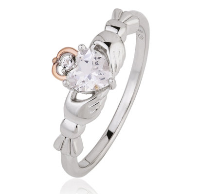 Clogau 9ct Rose Gold & Sterling Silver Affinity Friendship Ring