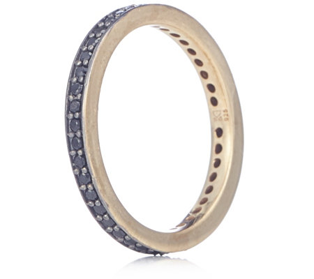 K by Kelly Hoppen Semi Precious Pave Eternity Band Ring Sterling Silver