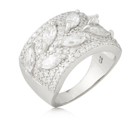 Michelle Mone for Diamonique 4.9ct tw Pave Band Ring Sterling Silver
