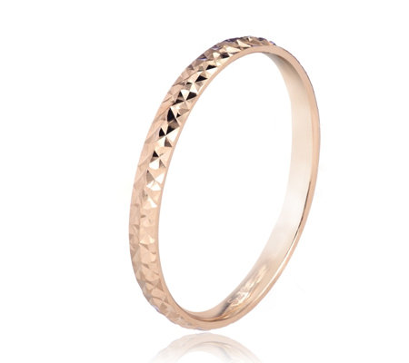9ct Gold Diamond Cut Skinny Band Ring