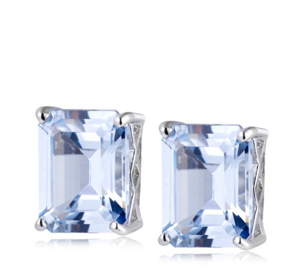 Michelle Mone for Diamonique 4ct tw Earrings Sterling Silver