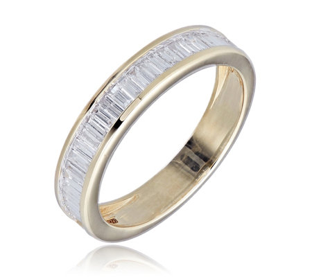 0.50ct Diamond Baguette Channel Eternity Ring 9ct Gold
