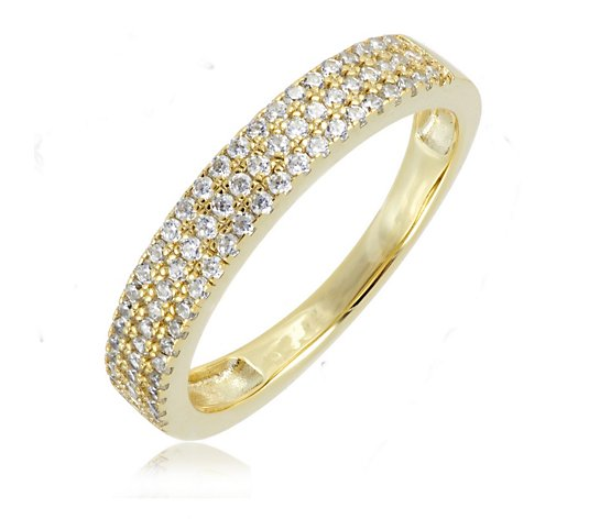 Escape by Melissa Odabash Pave Eternity Ring Sterling Silver