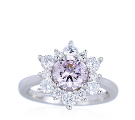 Michelle Mone for Diamonique 2.2ct tw Flower Ring Sterling Silver