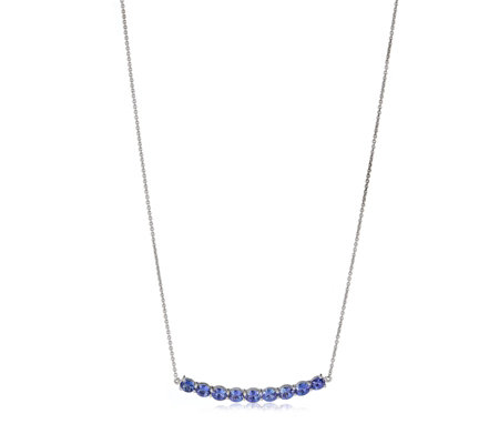 2.86ct AAA Tanzanite 9 Stone 45cm Necklace 18ct Gold
