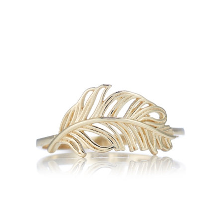 9ct Gold Feather Ring