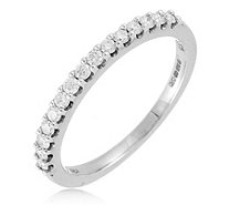 0.25ct Diamond Fine Claw Eternity Ring 9ct Gold - 340429
