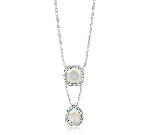 Butler & Wilson Double Drop Necklace