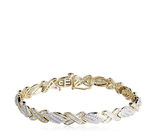 2.00ct Diamond Kiss 19cm Bracelet 9ct Gold