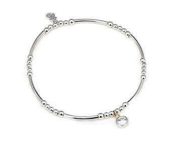 0b50567ed Clogau 9ct Rose Gold & Sterling Silver Celebration Stretch Bracelet - 336230