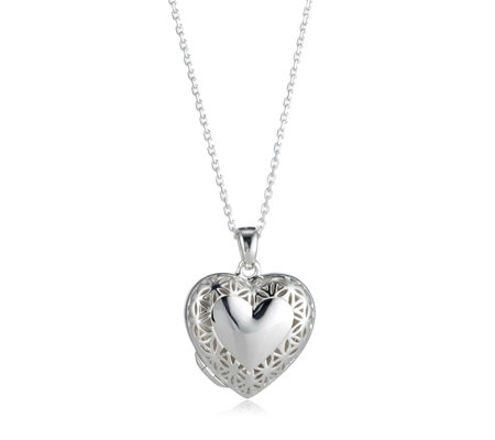 Links of London Heart Maze Locket 45cm Necklace Sterling Silver