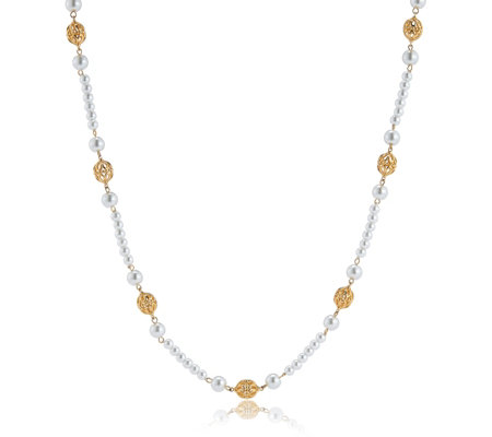 Elizabeth Taylor Simulated Pearl 90cm Necklace