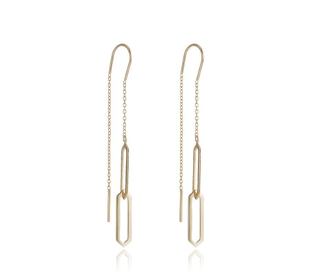 K by Kelly Hoppen Capri Geometric Hero Threader Earrings Sterling Silver