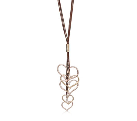 Frank Usher Multi Heart 80cm Necklace