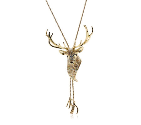 Butler & Wilson Stag Lariat 90cm Necklace