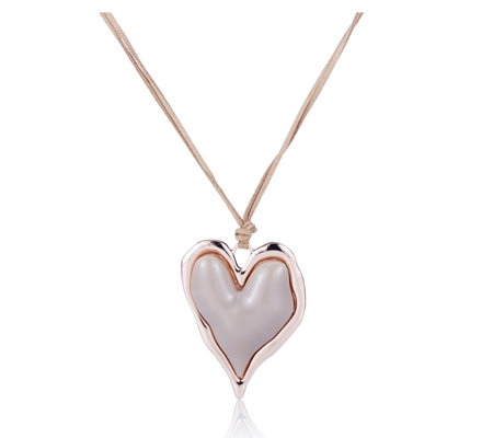 Frank Usher Enamel Heart 80cm Necklace