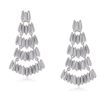 Michelle Mone 14.9ct tw Chandelier Earrings Sterling Silver