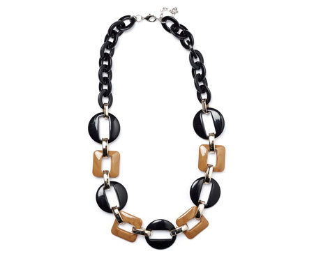 One Button Linked Shaped 64cm Necklace