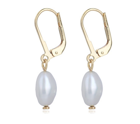 K By Kelly Hoppen Baroque Pearl Drop Earrings Sterling Silver