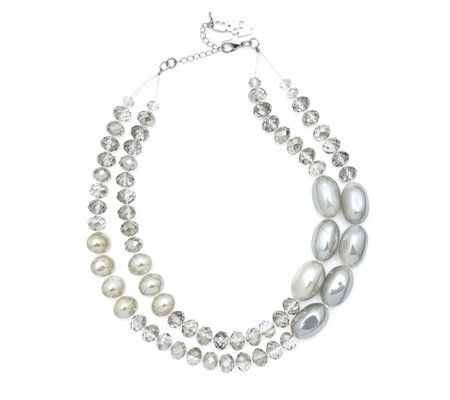 Butler & Wilson Faceted Glass Beads Necklace