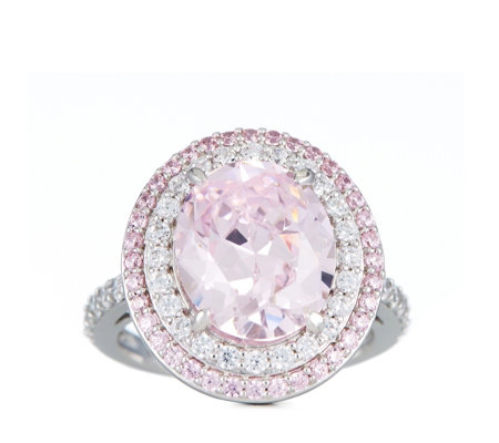 Michelle Mone for Diamonique 5.6ct tw Simulated Gemstone Ring Sterling Silver