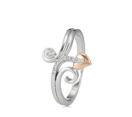 Clogau 9ct Rose Gold & Sterling Silver Tree of Life Vine Ring