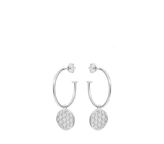 Annie Haak Flower of Life Hoop Earrings Sterling Silver