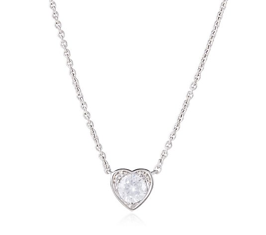 Elizabeth Taylor 1.35ct tw Simulated Diamond Heart Pendant 43cm Necklace
