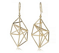 K by Kelly Hoppen Geometric Sculpted Earrings 18ct Gold Vermeil Sterling Silver - 309834