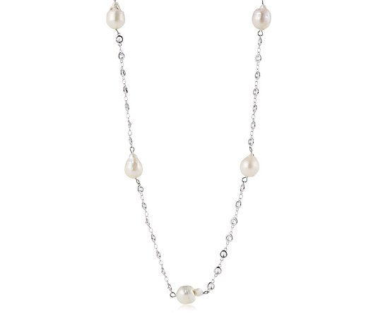Butler & Wilson Faux Pearls and Crystal Necklace