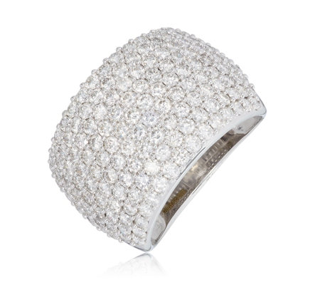 2.50ct Diamond Pave Cocktail Band Ring 9ct Gold