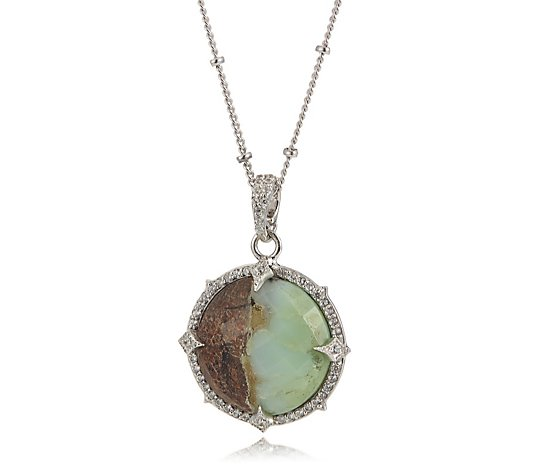 Hilary Joy Couture Large Gemstone 45cm Necklace Sterling Silver