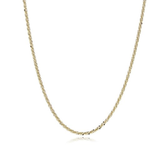 Bronzo Italia Margherita Diamond Cut 43cm Necklace