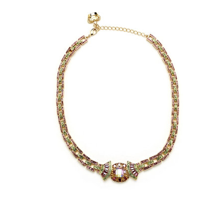 Butler & Wilson Crystal Art-Deco Style Crystal Collar Necklace