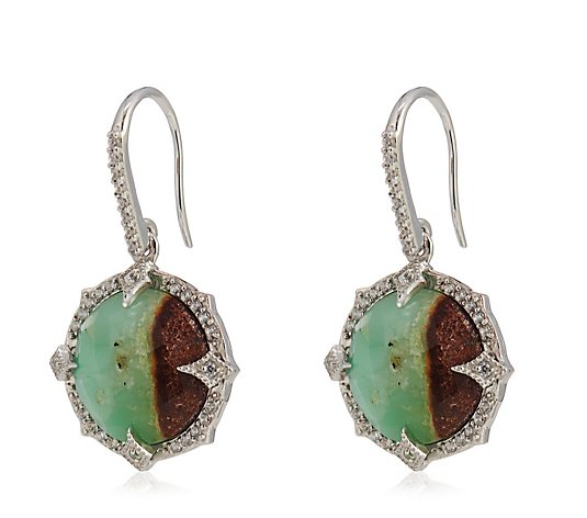 Hilary Joy Couture Large Gemstone Drop Earrings Sterling Silver