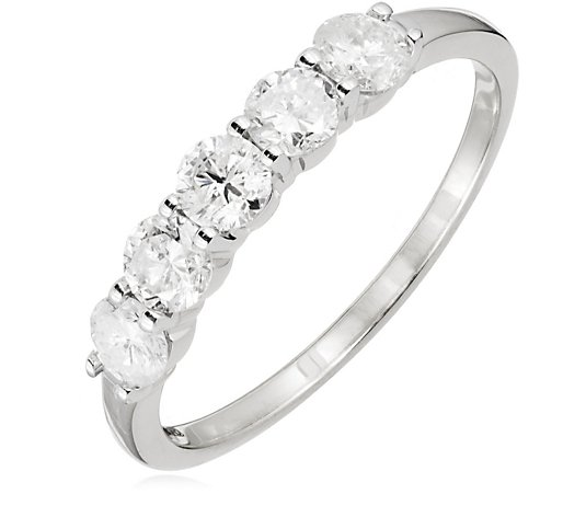 1.00ct Diamond 5 Stone Eternity Ring 14ct Gold