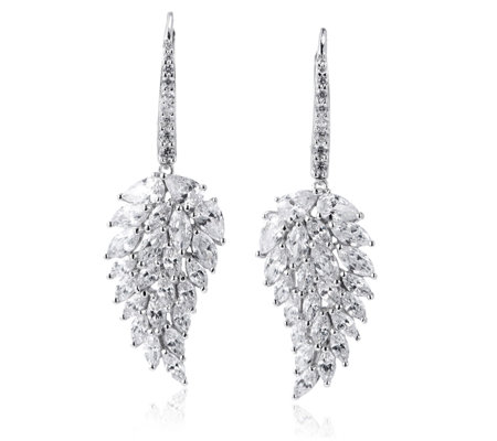 Michelle Mone for Diamonique 6.2ct tw Angel Wing Earrings Sterling Silver