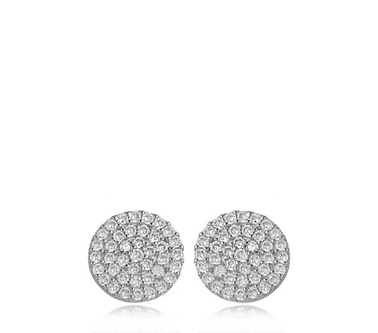 Escape by Melissa Odabash Pave Stud Earrings Sterling Silver