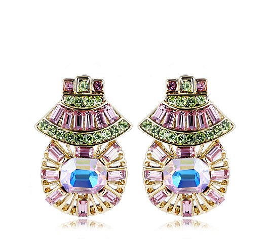 Butler & Wilson Art-Deco Crystal Fan Earrings
